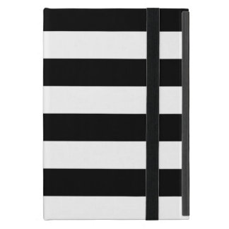 Stylish Black And White Horizontal Stripes Case For iPad Mini