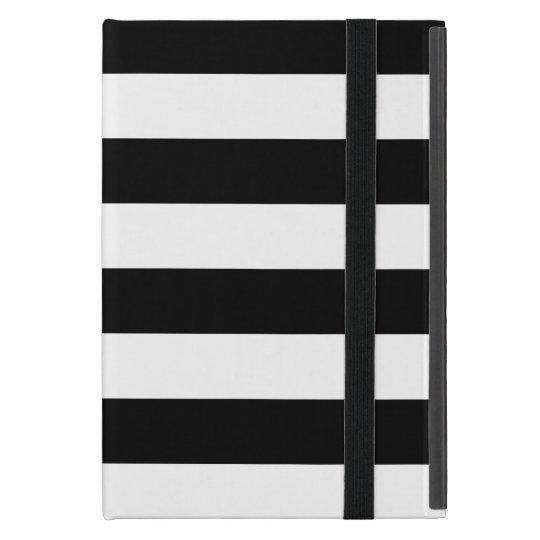 Stylish Black And White Horizontal Stripes Case For