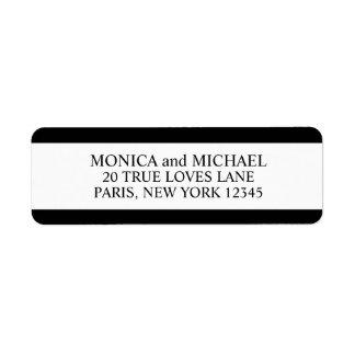 Stylish Black and White Return Address Label