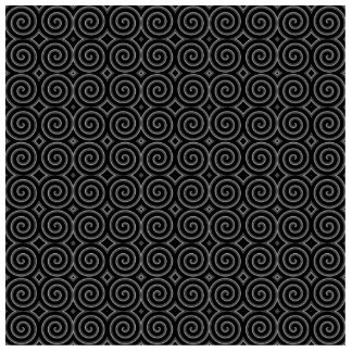 Stylish, black and white spiral design. acrylic cut outs