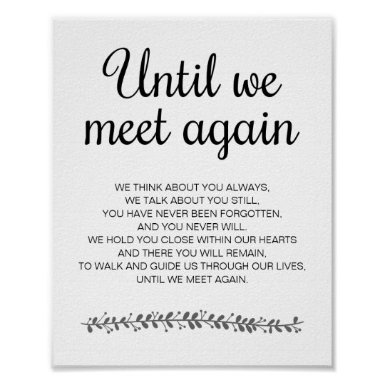 Stylish Black And White Wedding Poem Memorial Sign