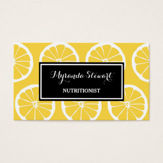 Stylish Black and Yellow Lemon Slices Nutritionist
