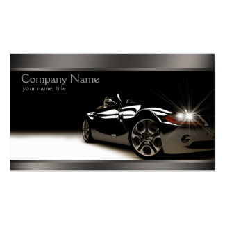 Stylish Black Automotive Business Card