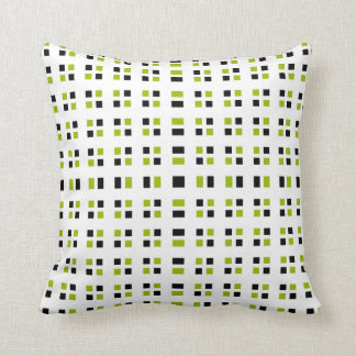 Stylish Black & Chartreuse Squares Pillow Throw Cushions
