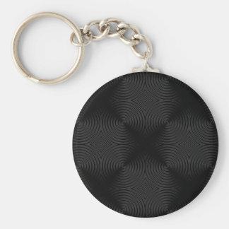 Stylish black circles design keychain