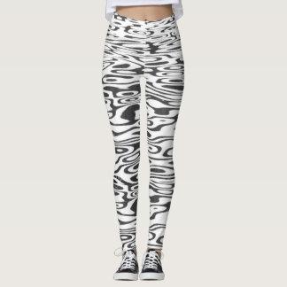 Stylish Black Curly Print Leggings