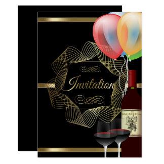 Stylish Black & Gold Party Event Invitation