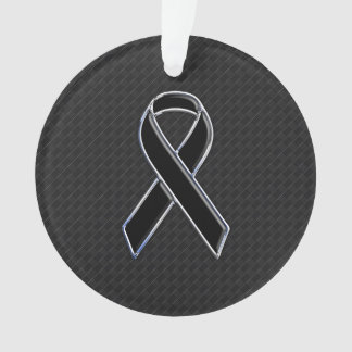 Stylish Black Ribbon Awareness