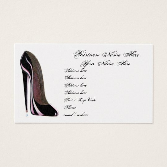 Stylish Black Shoe Business Card