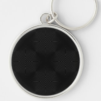 Stylish, black spirals design. key chain