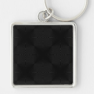 Stylish, black spirals design. keychain