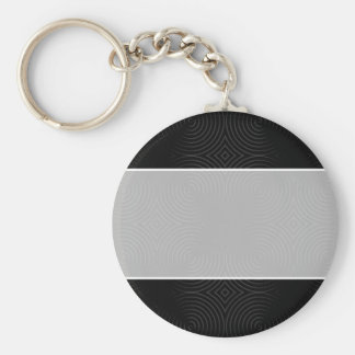 Stylish, black spirals design. keychains