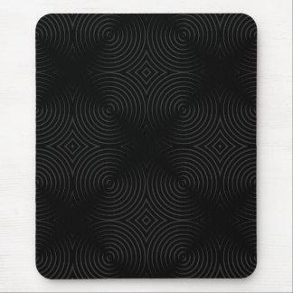 Stylish, black spirals design. mouse mat