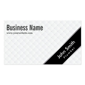 Stylish Black Stripe Plumbing Business Card