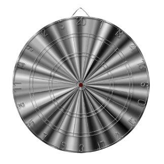 Stylish Black White Grey Silver Pattern Dartboard