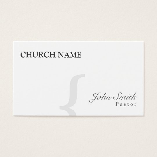 Stylish Black & White Pastor Business Card