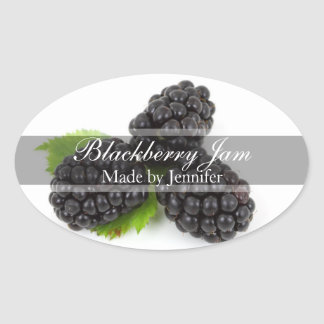 Stylish Blackberry Canning Label Sticker