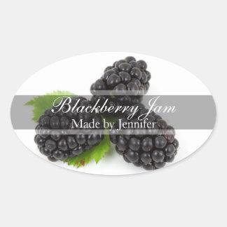 Stylish Blackberry Canning Label Sticker