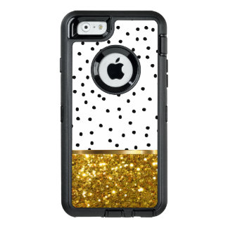 Stylish Bling Gold Glitter OtterBox Defender iPhone Case