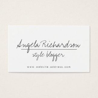 Stylish Blogger Business Card