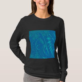 Stylish Blue Abstract Pattern. Fractal Art. T-Shirt