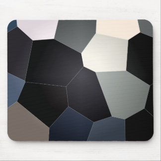 Stylish blue and black stained glass pattern mouse pad