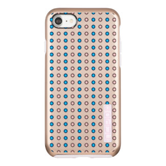 Stylish Blue and Pink Polka Dot Pattern Incipio DualPro Shine iPhone 8/7 Case