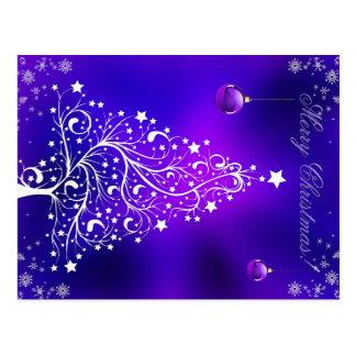 Stylish Blue Christmas Card Postcard