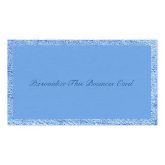 Stylish Blue Denim Business Card Template