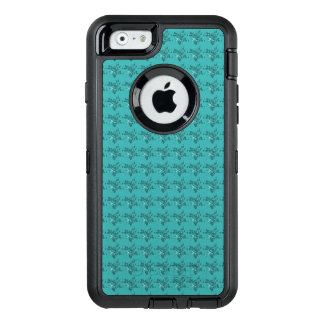 Stylish-Blue-Floral-Apple-Samsung-Cell-Cases OtterBox Defender iPhone Case