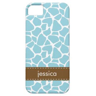 Stylish Blue Giraffe Pattern iPhone 5 Covers