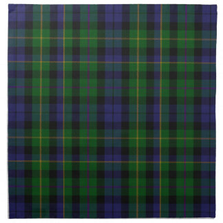 Stylish Blue & Green MacBride Tartan Plaid Napkin