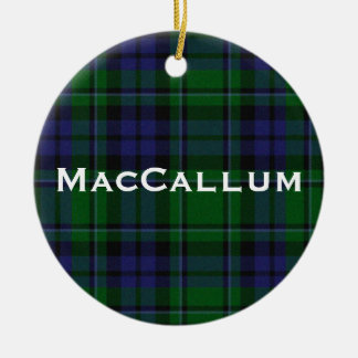 Stylish Blue & Green MacCallum Tartan Plaid Christmas Ornament