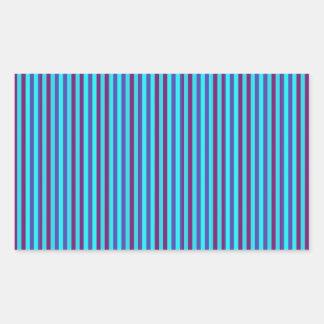 Stylish Blue Horizontal Stripes Rectangular Sticker