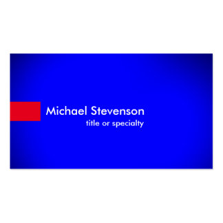 Stylish Blue Red Modern Unique Consultant Pack Of Standard Business Cards
