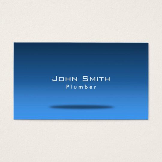 Stylish Blue Room Plumbing Business Card