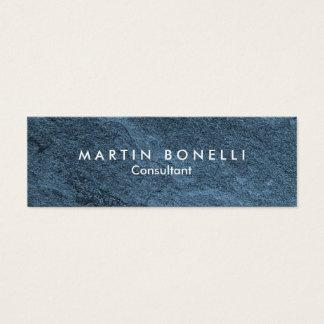 Stylish Blue Stone Design Artistic Slim Mini Business Card