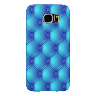 Stylish Blue Upholstery Pattern Samsung Galaxy S6 Cases
