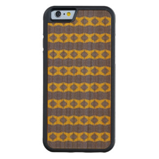 stylish blue yellow vertical pattern carved cherry iPhone 6 bumper case