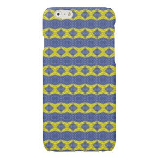 stylish blue yellow vertical pattern iPhone 6 plus case