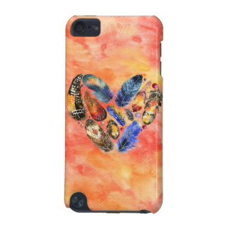 Stylish Boho Feather Heart iPod Touch (5th Generation) Covers