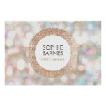 Stylish Bokeh and Rose Gold Sequin Event Planner 2 Poster