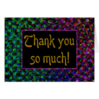 Stylish, Bold Thank You Card From Anyone