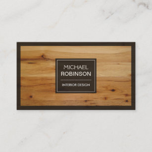 Wooden business cards zazzle uk stylish border wood grain texture business card reheart Gallery
