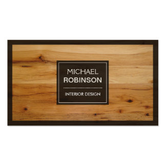 Stylish Border Wood Grain Texture Pack Of Standard Business Cards
