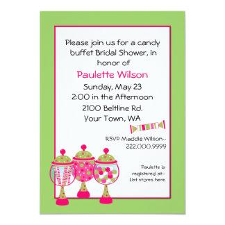 Stylish Bridal Shower Candy Buffet Invitation
