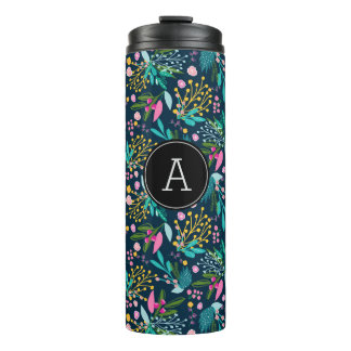 Stylish Bright Floral Thermal Tumbler