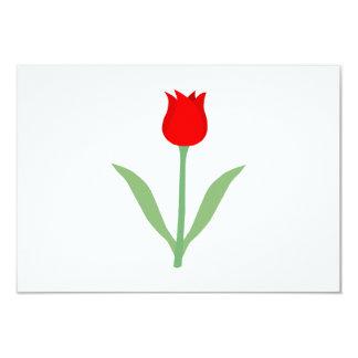 Stylish Bright Red Tulip. Card