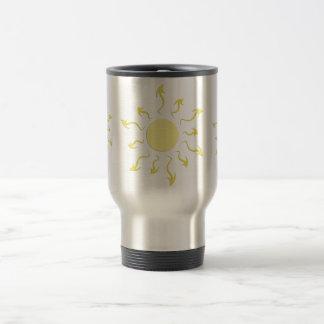 Stylish Bright Yellow Sun Design Coffee Mug