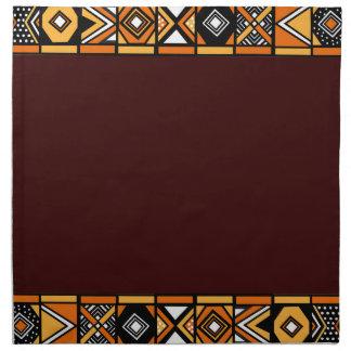 Stylish Brown African art napkins